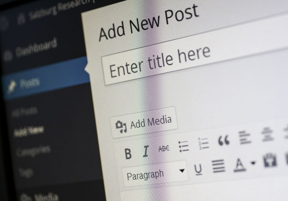 start a blog and publish your first post
