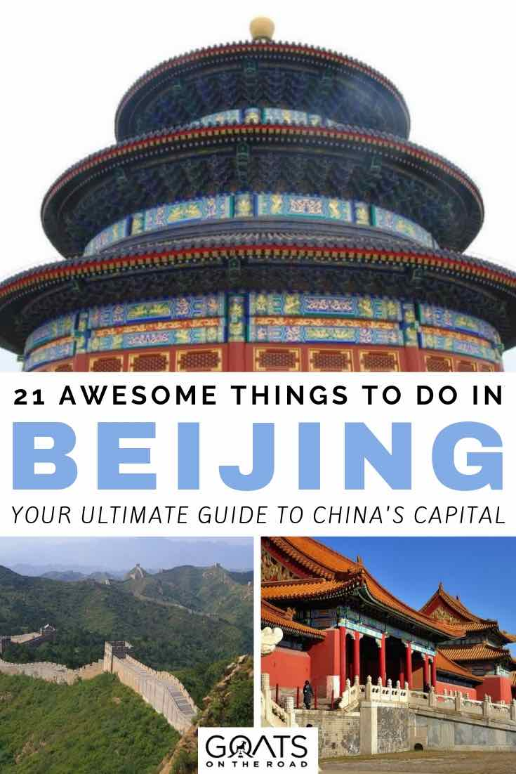temples and great wall in china with text overlay 21 awesome things to do in beijing