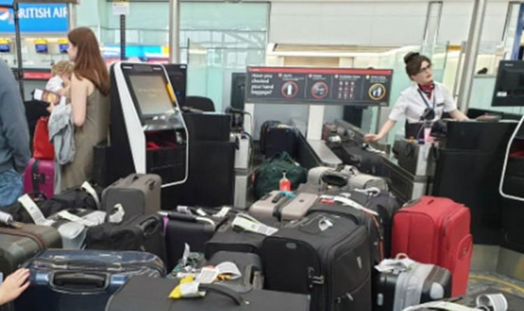 Heathrow Airport CHOAS as luggage system goes DOWN – flights delayed, holidaymaker bedlam