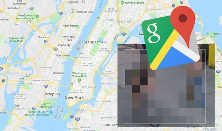 Google Maps Street View: Man caught in very embarrassing pose with blonde woman in street